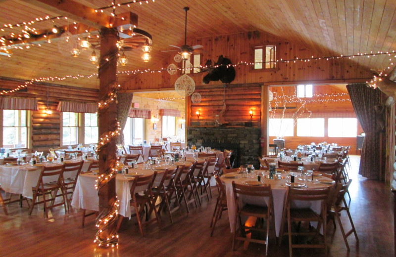 Wedding receptions at Jackson's Lodge and Log Cabin Village in Canaan, Vermont's Northeast Kingdom.