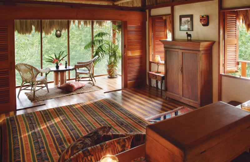 Guest room at Blancaneaux Lodge.