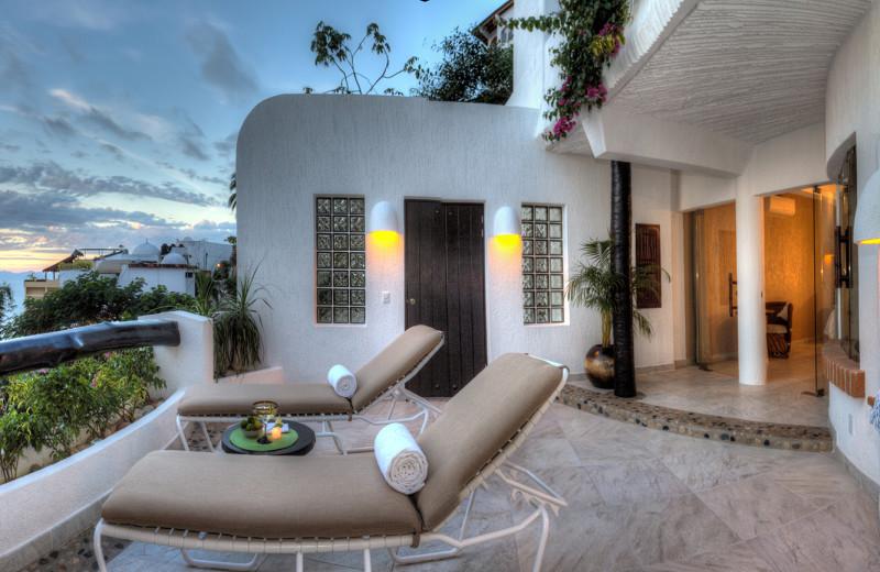 Villa Deck Chairs At Ocho Cascadas Resort.