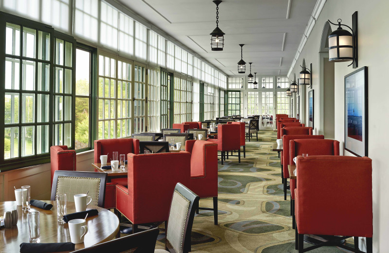 Dining at The Algonquin Resort St. Andrews by-the-Sea, Autograph Collection.