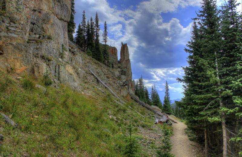 Hiking at Black Wolf Lodging.