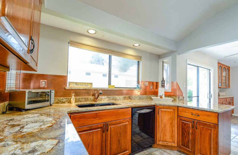 Rental kitchen at Splash Time Vacation Home.