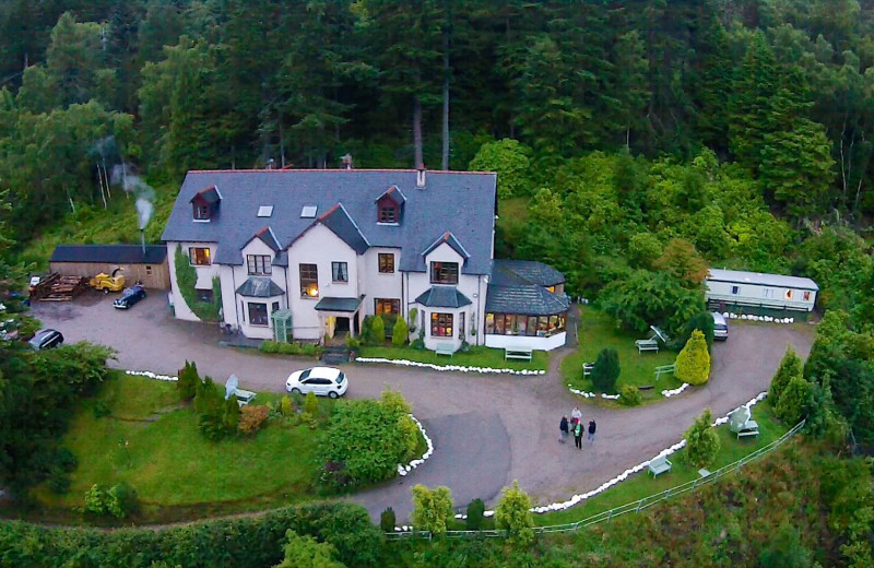 Aerial view of Craigdarroch Lodge.