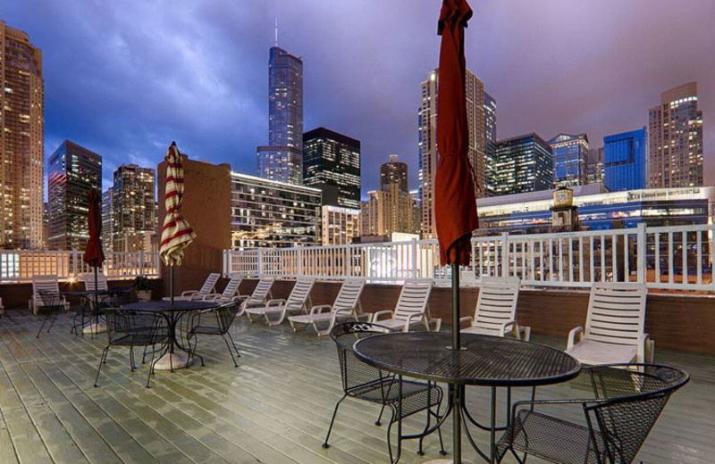 Roof Deck Area at Best Western River North Hotel