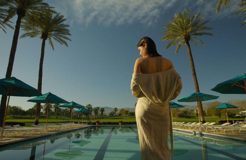 Relaxing by the Pool at Marriott Desert Springs Resort
