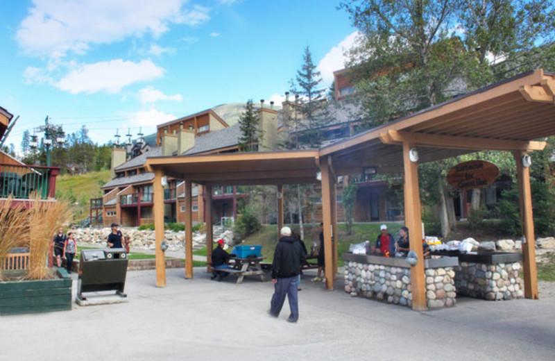 BBQ Area at the Panorama Vacation Retreat at Horsethief Lodge