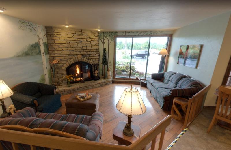 Lobby at Open Hearth Lodge.
