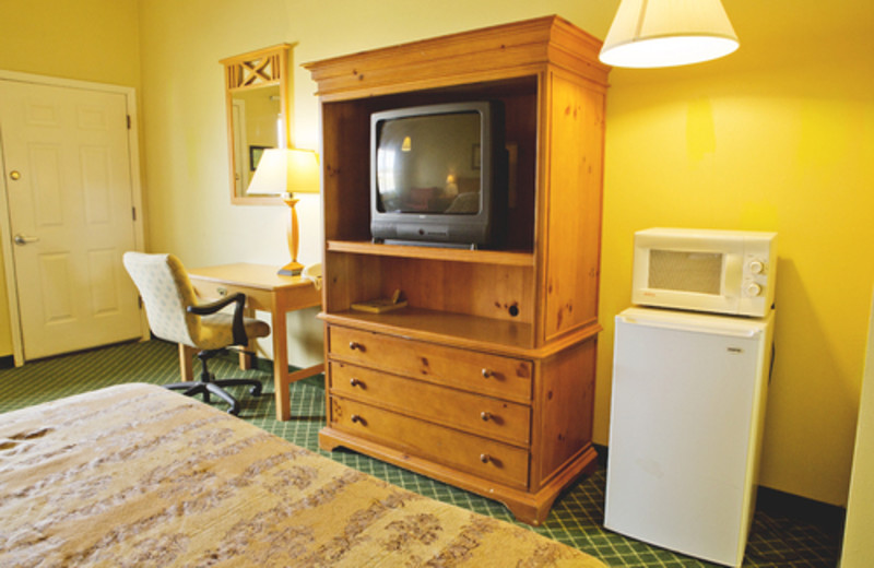 Guest accommodations at Hunter's Hot Springs Resort.