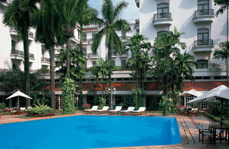 Outdoor pool at The Oberoi Grand.