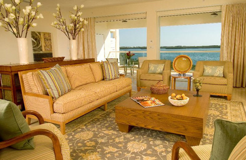 Guest living room at KeysCaribbean.