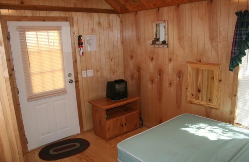 Cabin interior at Hemlock Campground & Cottages.
