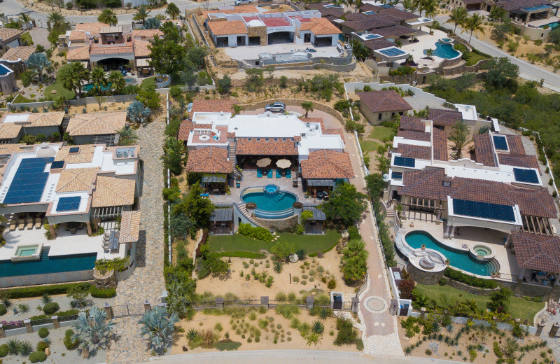 Aerial view of Casa Mar y Estrella.