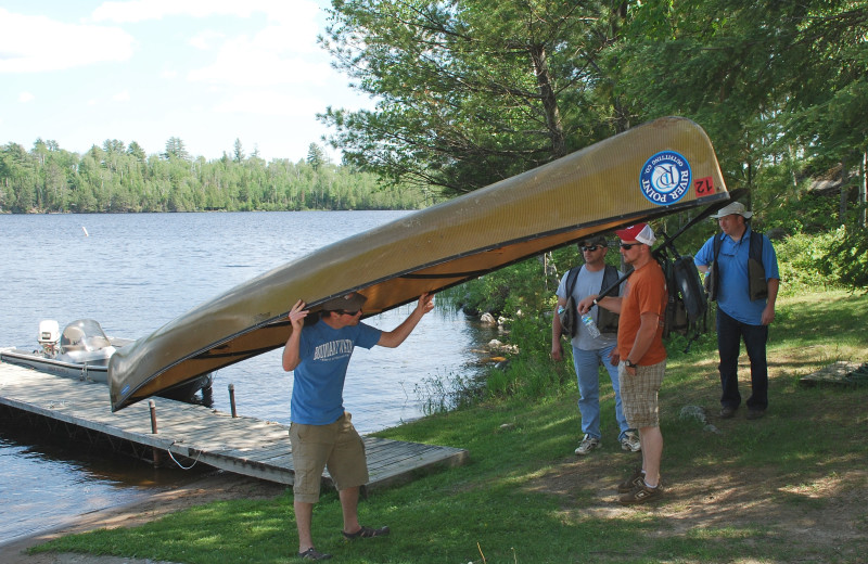 Canoeing at River Point Resort & Outfitting Co.