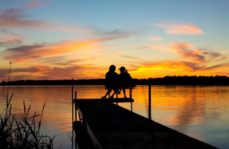 Lake near Deer Lake Resort .