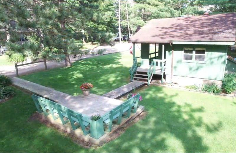 Cabin exterior at Lykins Pinehurst Resort.