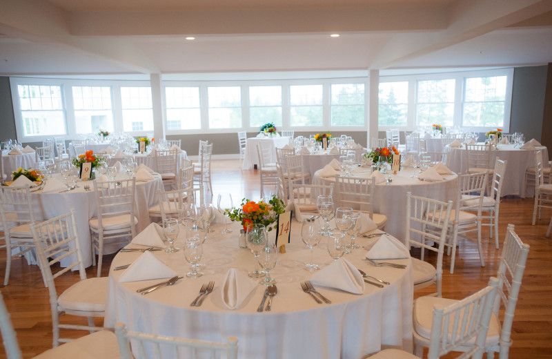 Wedding reception at Newagen Seaside Inn.