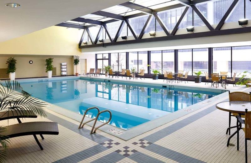 Indoor pool at Delta Ottawa Hotel and Suites.