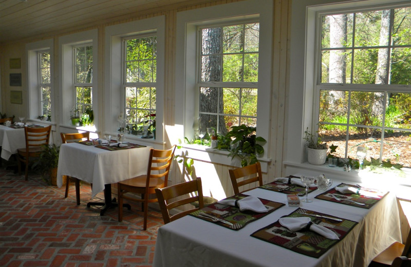 Dining room at The Garden Walk Bed & Breakfast Inn.