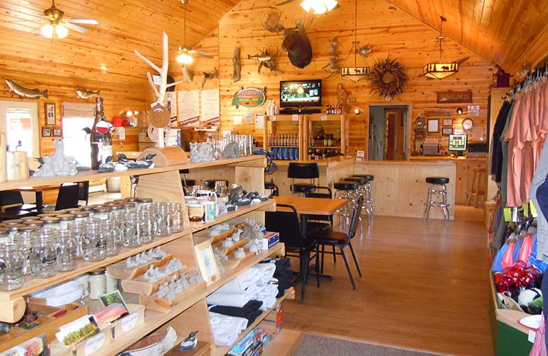 Gift shop at Lakewood Lodge.