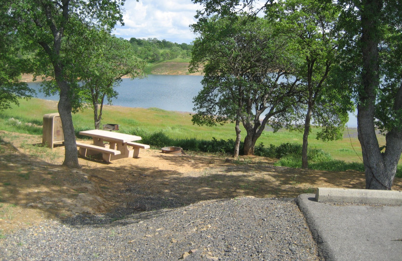 Picnic area at Lake Don Pedro.