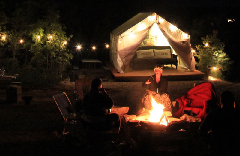 Glamping at Zion Ponderosa Ranch Resort.