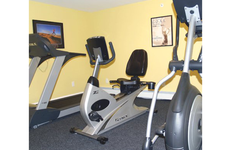 Fitness room at Essex Street Inn Newburyport.