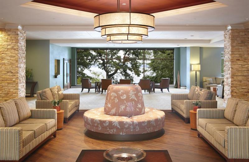 Lobby view at Heidel House Resort.
