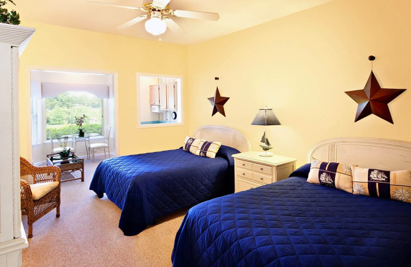 Guest room at Sea Trail Resort.
