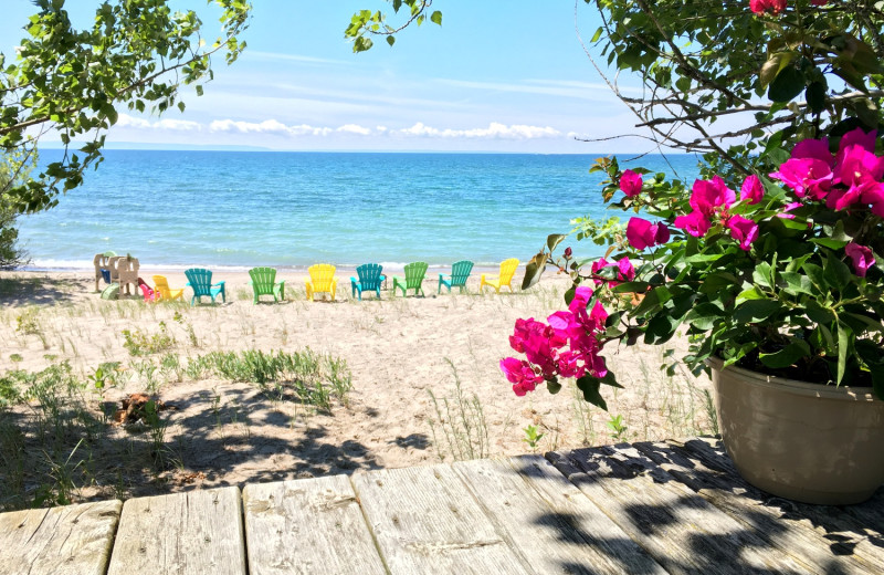Rental beach at Cottage Vacations.