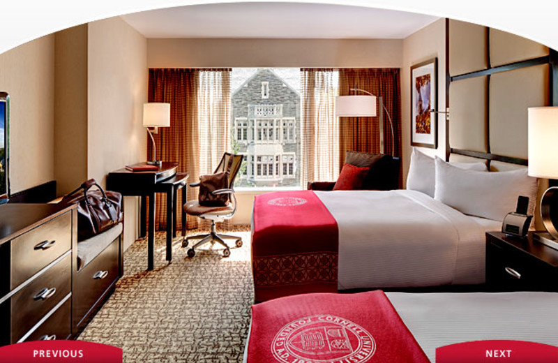 Guest Room at The Statler Hotel at Cornell University