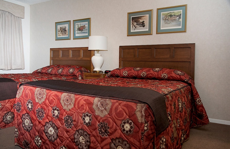 Guest beds at Wedgewood Resort.
