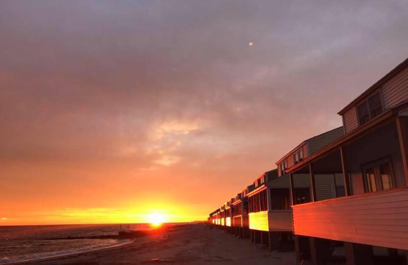 Sunset at Hawk's Nest Beach.