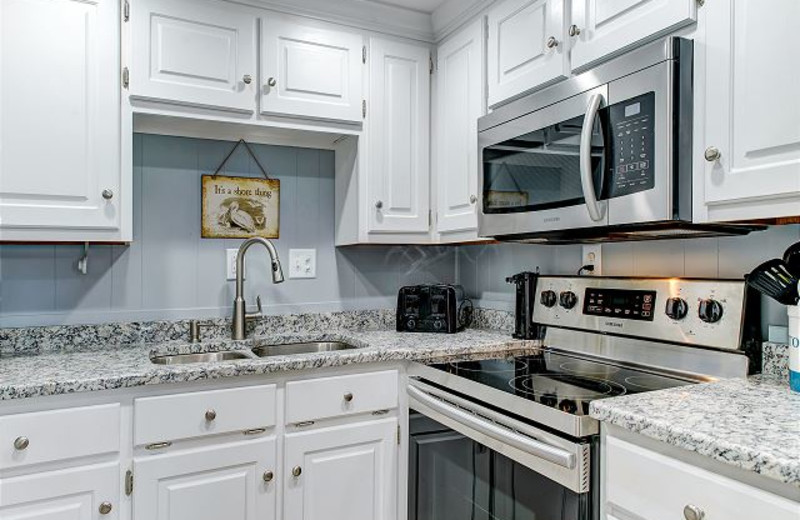 The kitchen at Island Resort Management