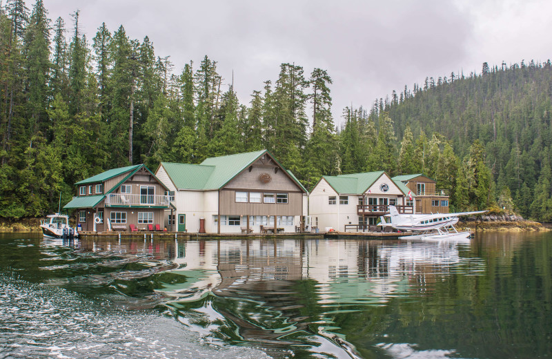 Exterior view of Nootka Wilderness Lodge.