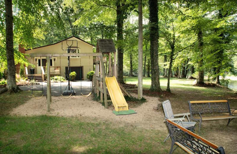 Cottage playground at Greenbrier River Retreat.