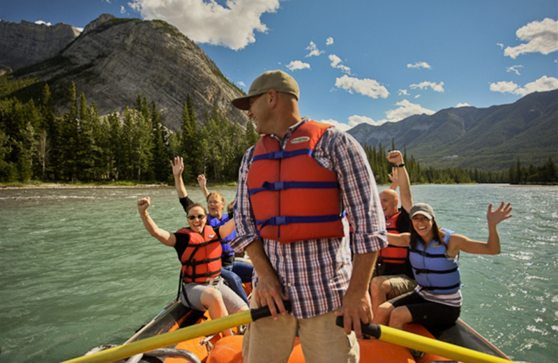 Rafting at Mountaineer Lodge.