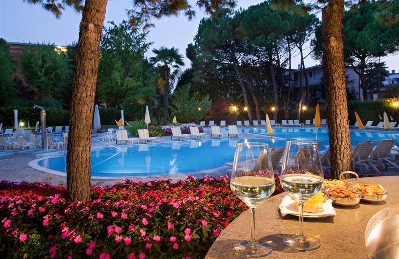 Outdoor pool at Hotel Terme Bristol Buja.