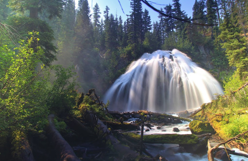 Waterfall near Sisters Vacation Rentals.