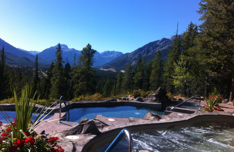 Outdoor pool at Banff Lodging Company.