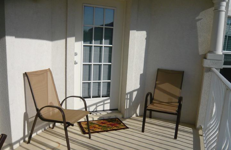 Rental balcony at St. Augustine Beach Vacation Rentals.