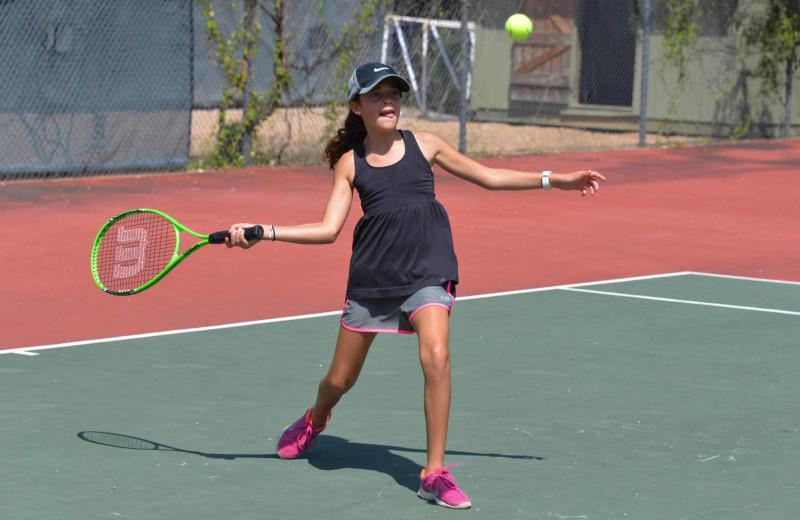 Tennis at Camp Balcones Spring.