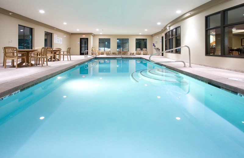 Indoor pool at Holiday Inn Express & Suites Lander.