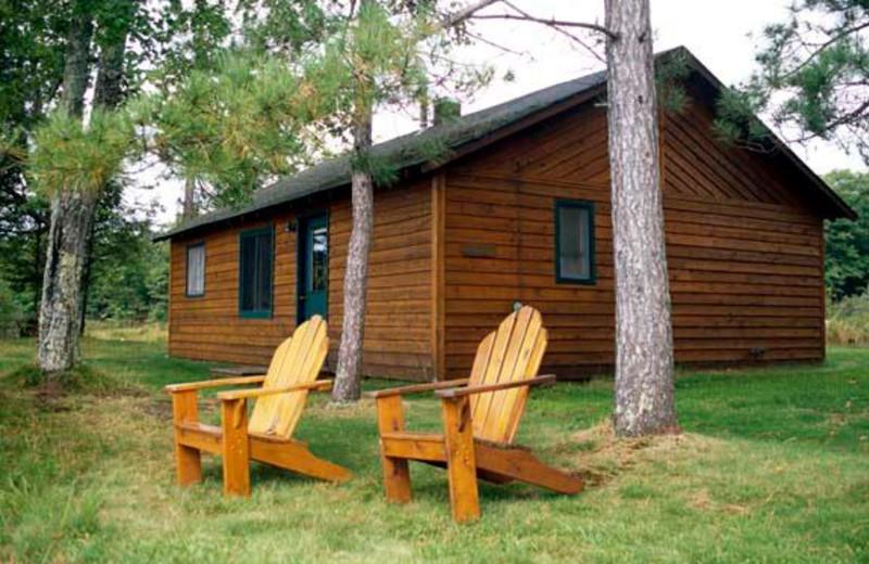 Cabin exterior at Pitlik's Sand Beach Resort.