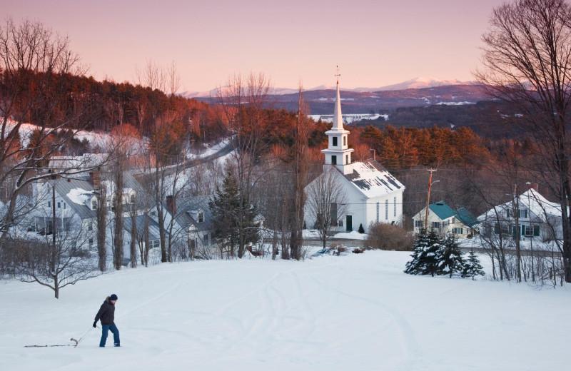 Winter view at Rabbit Hill Inn.
