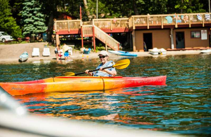 Canoe at Fair Hills Resort.