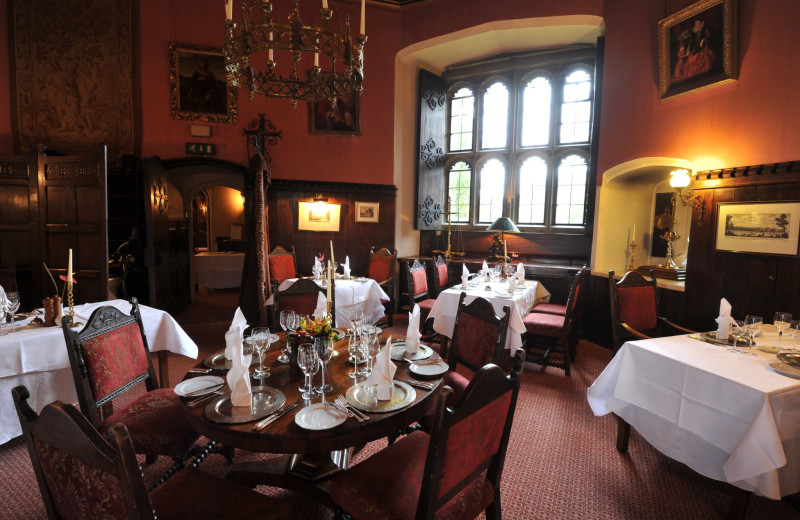 Dining at Thornbury Castle.