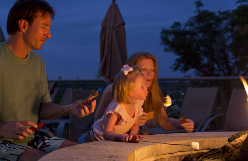 Roasting marshmallows at Lakeway Resort and Spa.