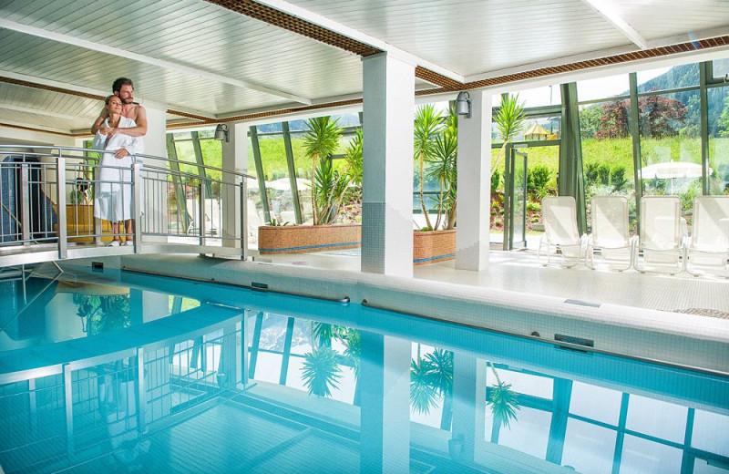 Indoor pool at Thermen und Sporthotel Sonngastein.