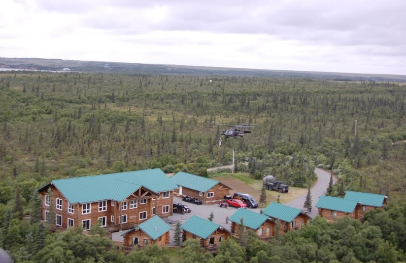 Exterior view of Alaska's Gold Creek Lodge.