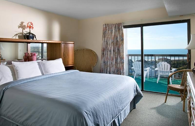 Guest room at Caravelle Beach Club.